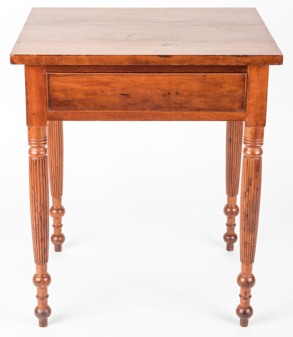Lot 153: Middle TN Cherry One-Drawer Stand