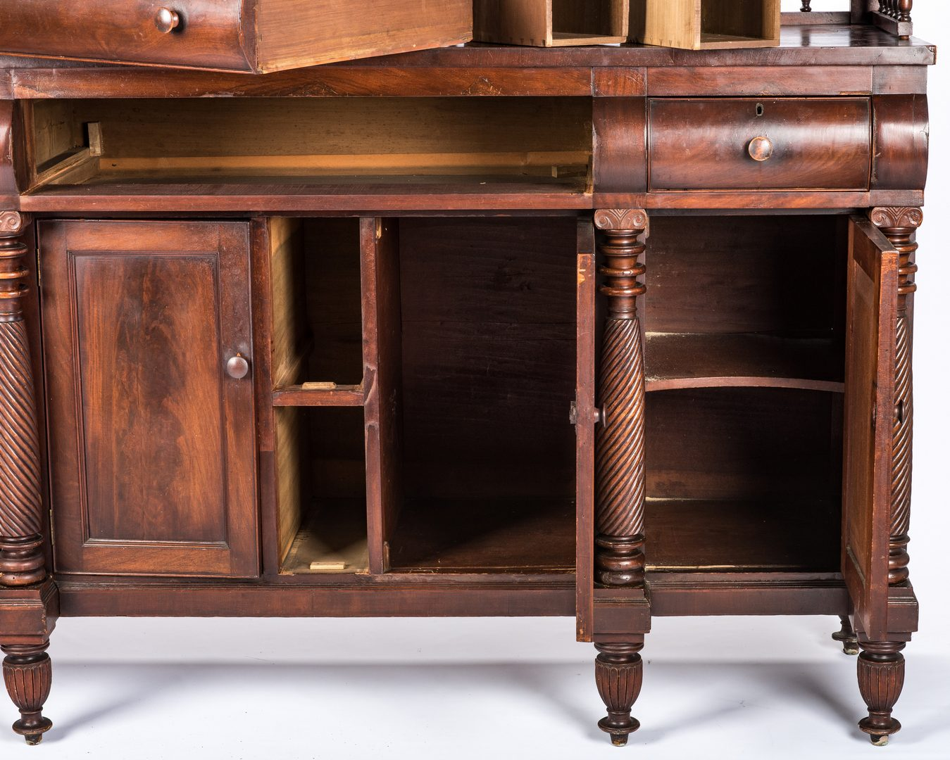 Lot 158: Signed East TN Late Classical Mahogany Sideboard