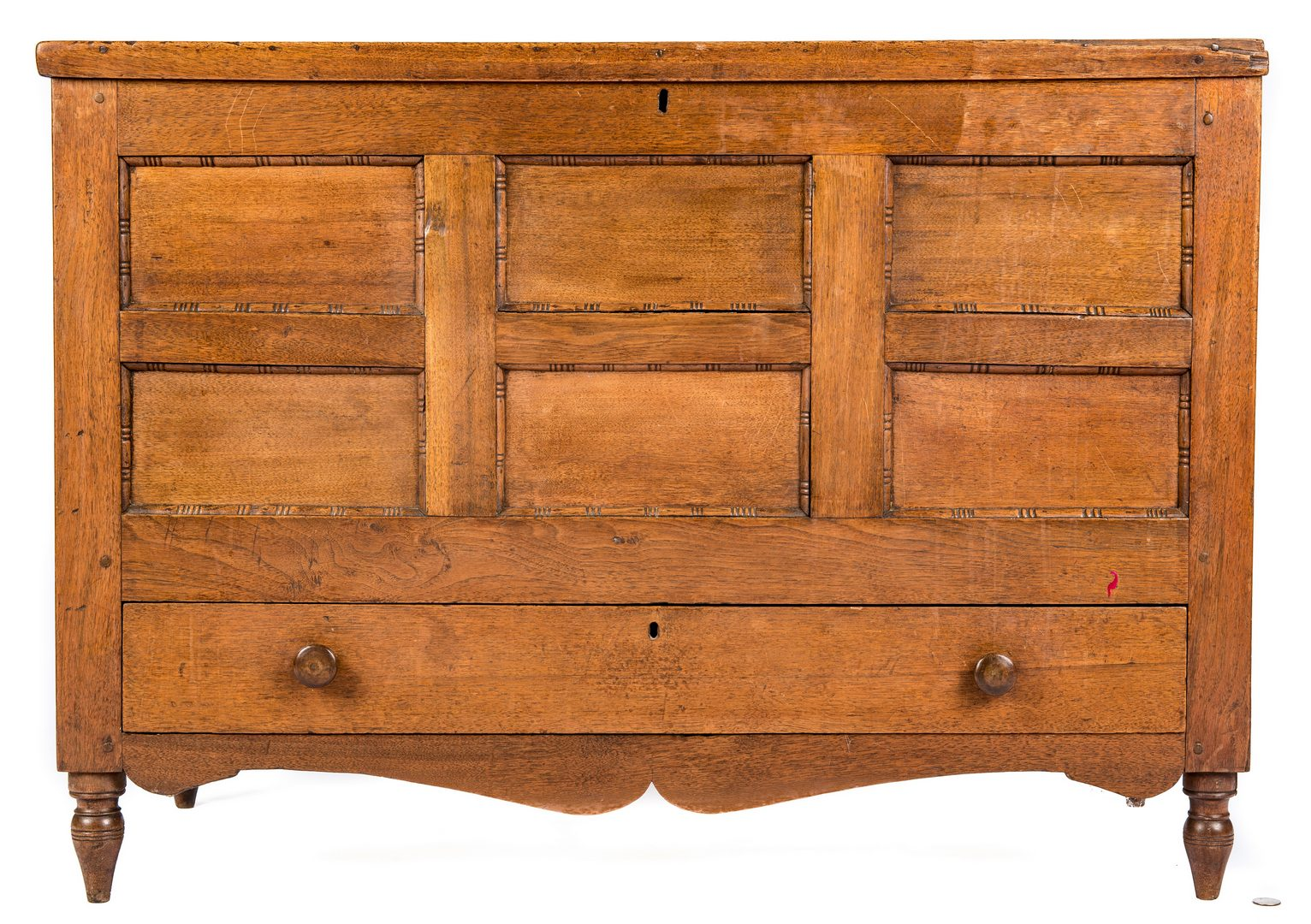 Lot 159: East TN Sheraton Paneled Blanket Chest