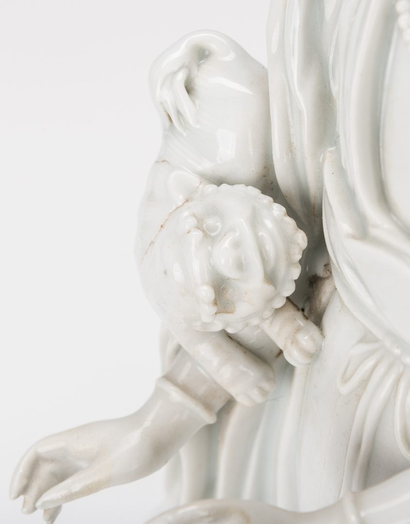Lot 15: Blanc de Chine Porcelain Quan Yin Figure