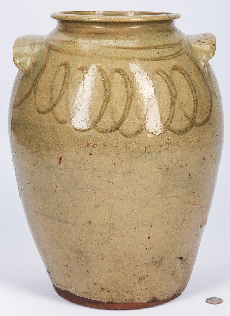 Lot 160: Edgefield South Carolina Decorated Pottery Jar