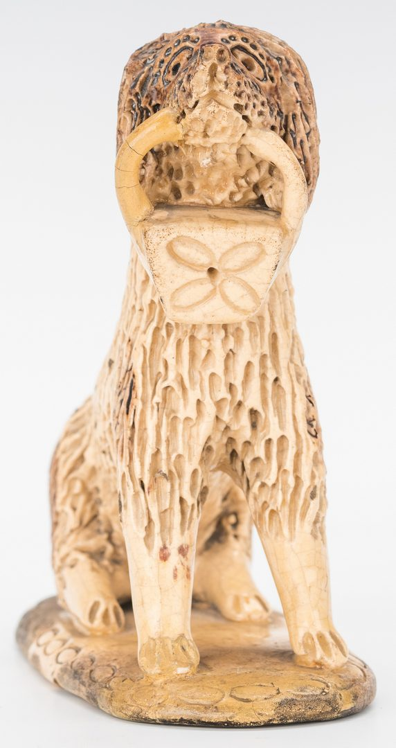 Lot 163: Figural Pottery Dog, attrib. to Bell
