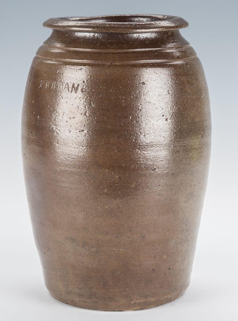 Lot 165: NC Stoneware Pottery Jar, Jesse Jordan