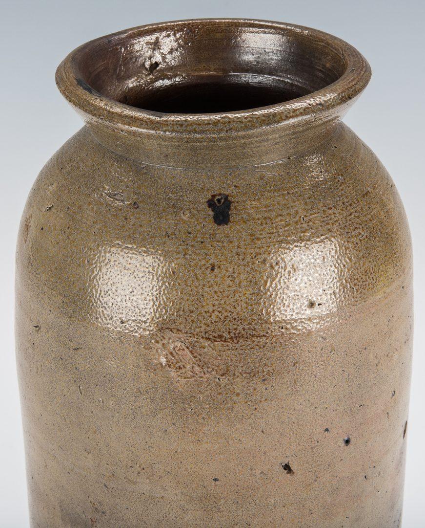 Lot 166: NC Stoneware Preserving Jar, Wright Davis