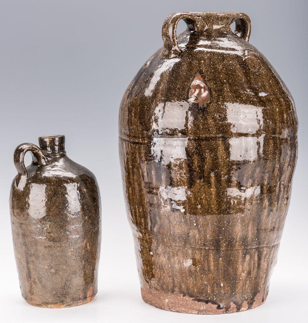 Lot 168: 3 NC Alkaline Glazed Pottery Jars
