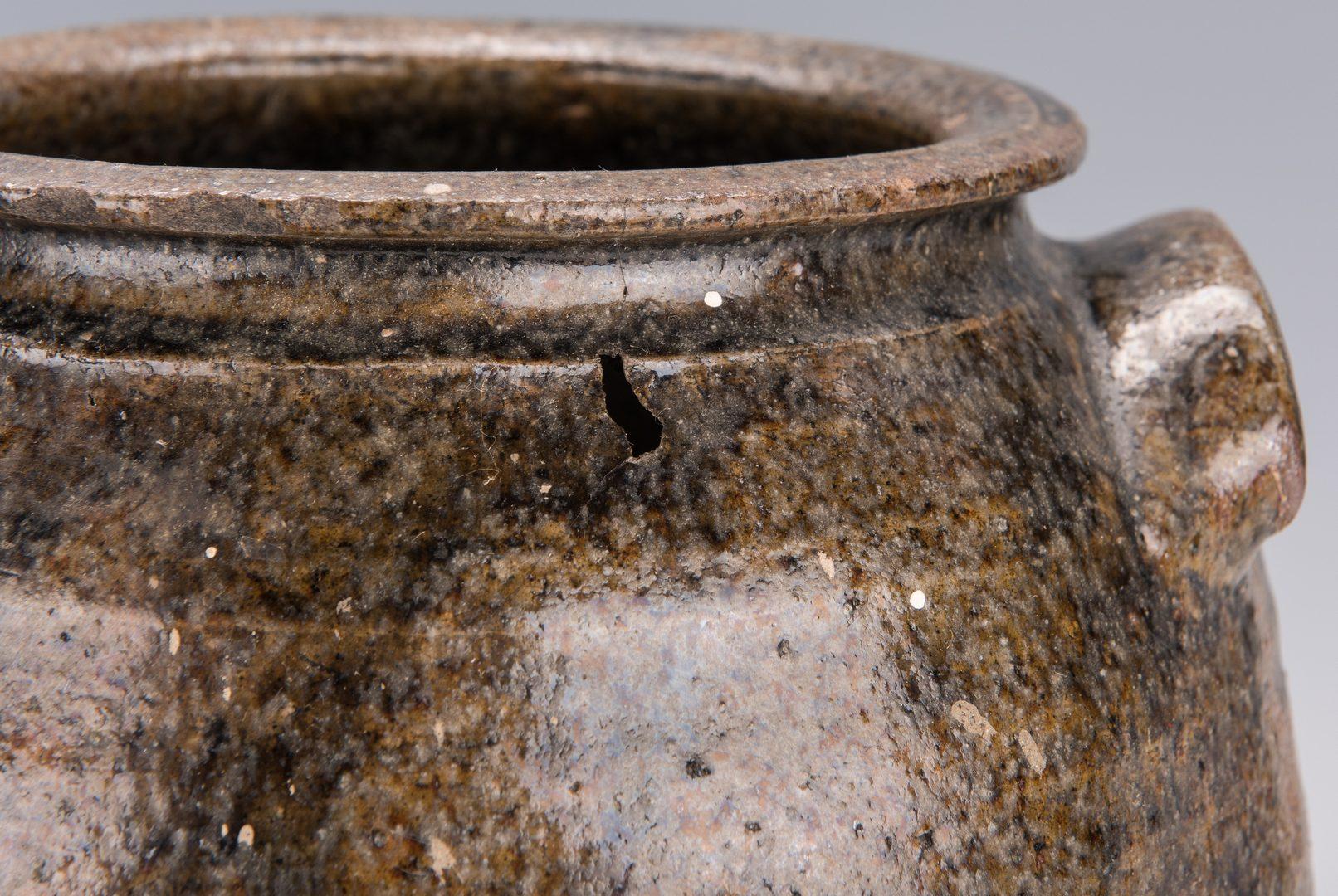 Lot 169: 2 Western NC Alkaline Glazed Pottery Jars