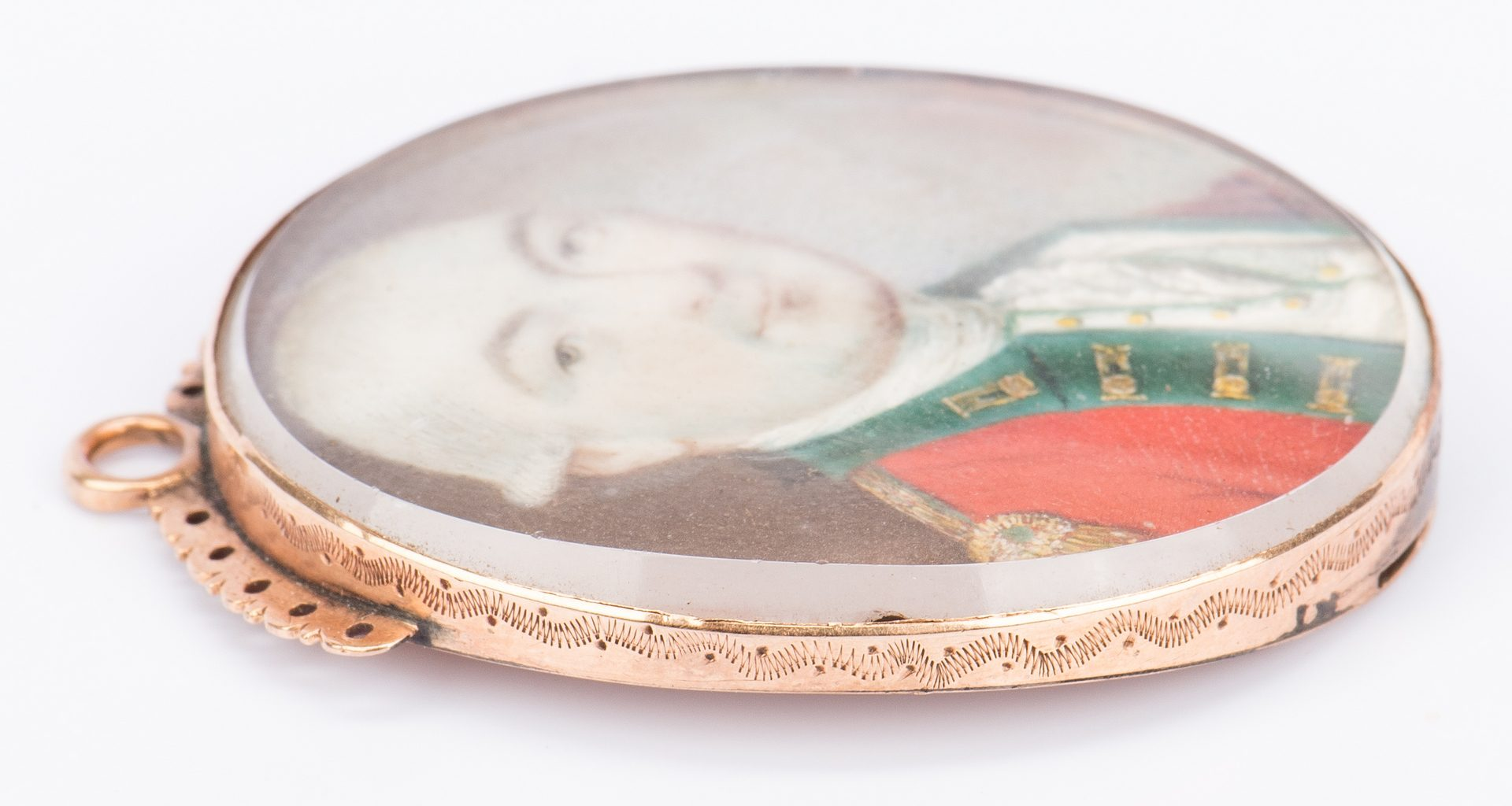 Lot 173: Miniature Portrait of British Captain