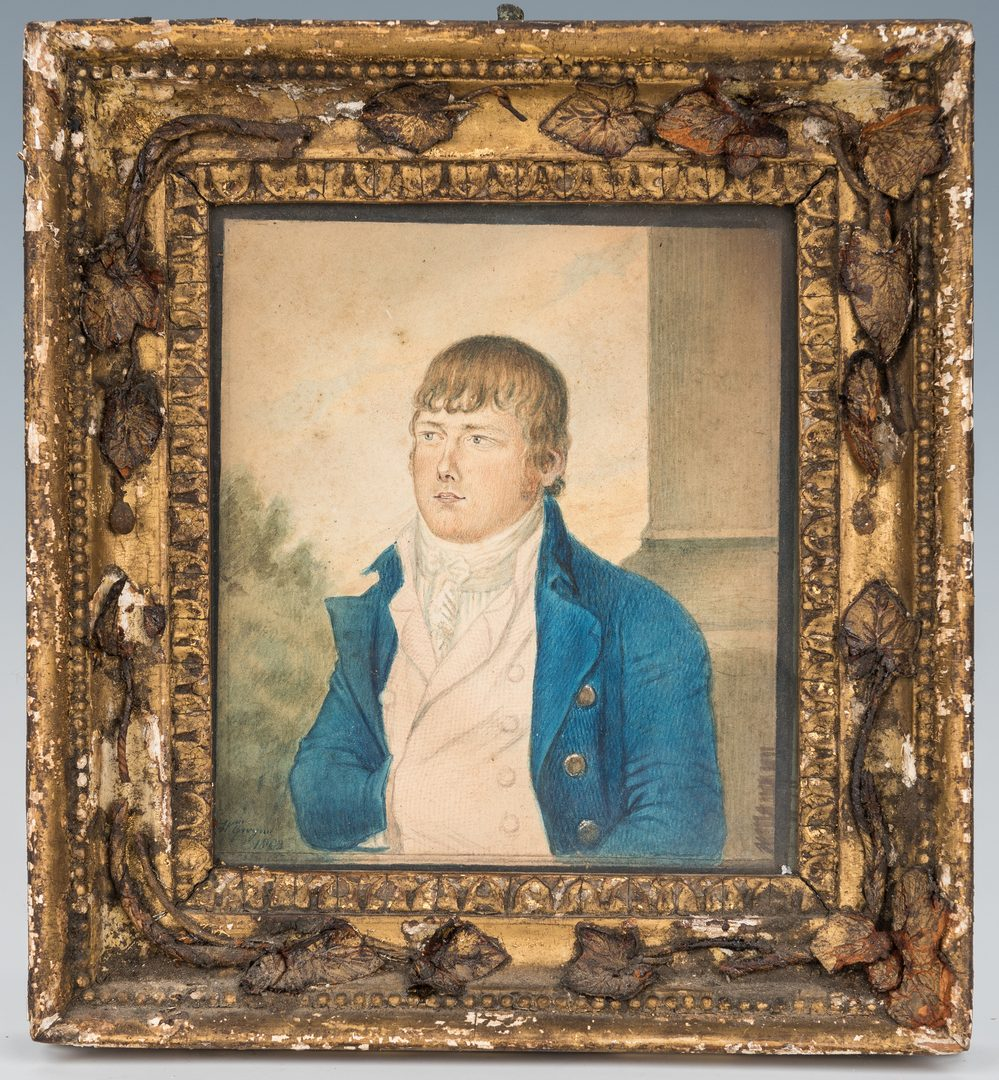 Lot 175: Wm. Gwynn, Miniature Portrait of a Gentleman