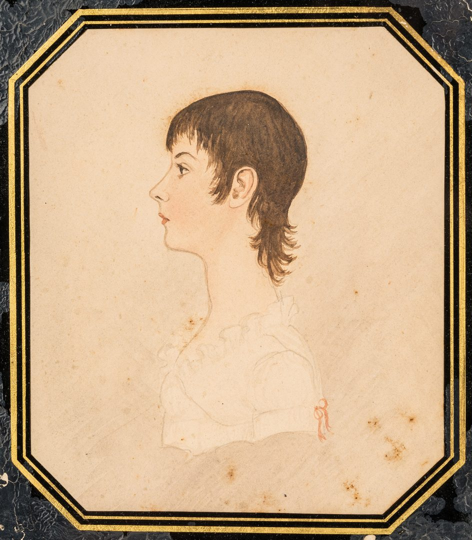 Lot 177: Virginia Miniature Portrait of Young Woman