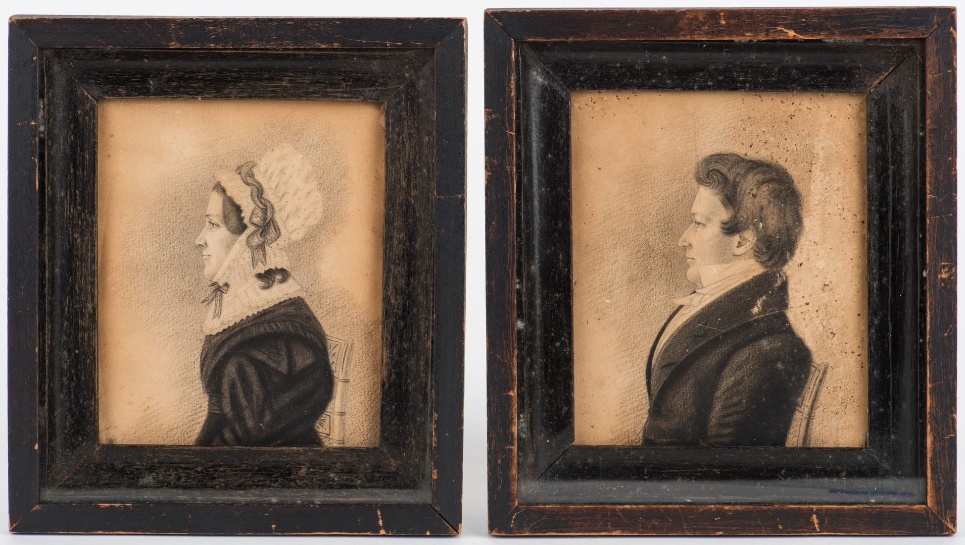 Lot 178: Two 19th Cent. VA Portraits, attrib. Burton