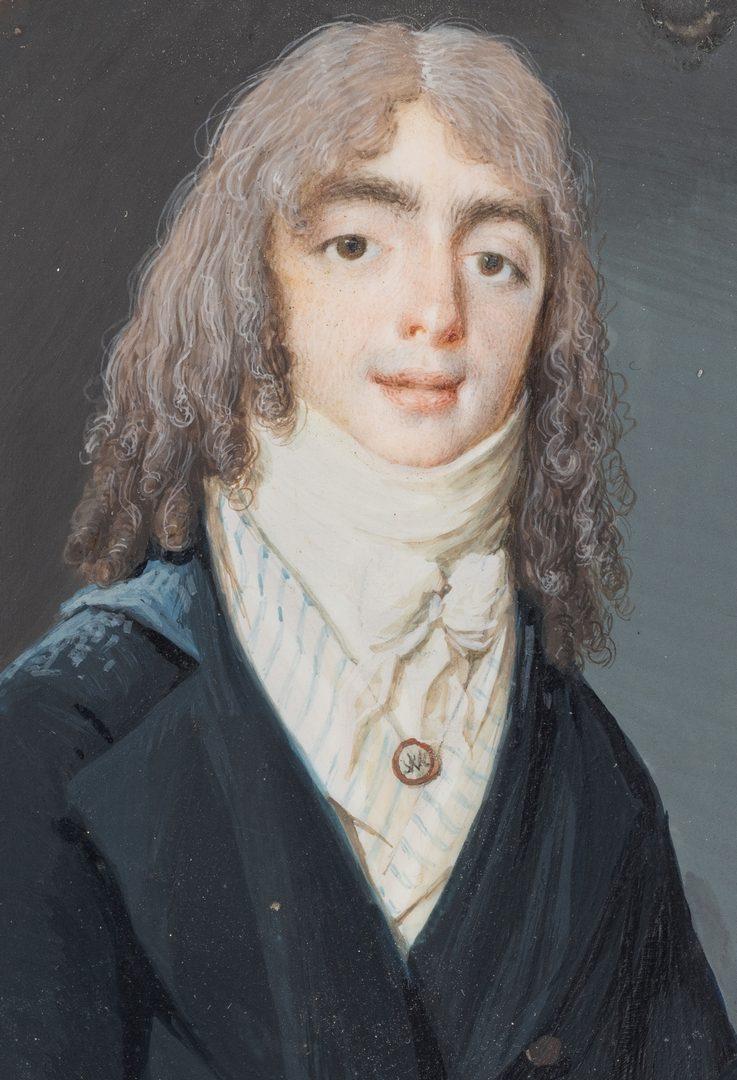 Lot 179: VA Portrait Miniature, attrib. P. Peticolas
