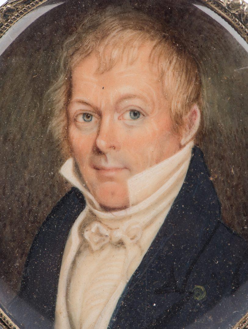 Lot 181: Miniature portrait of Thomas Martin of Nashville