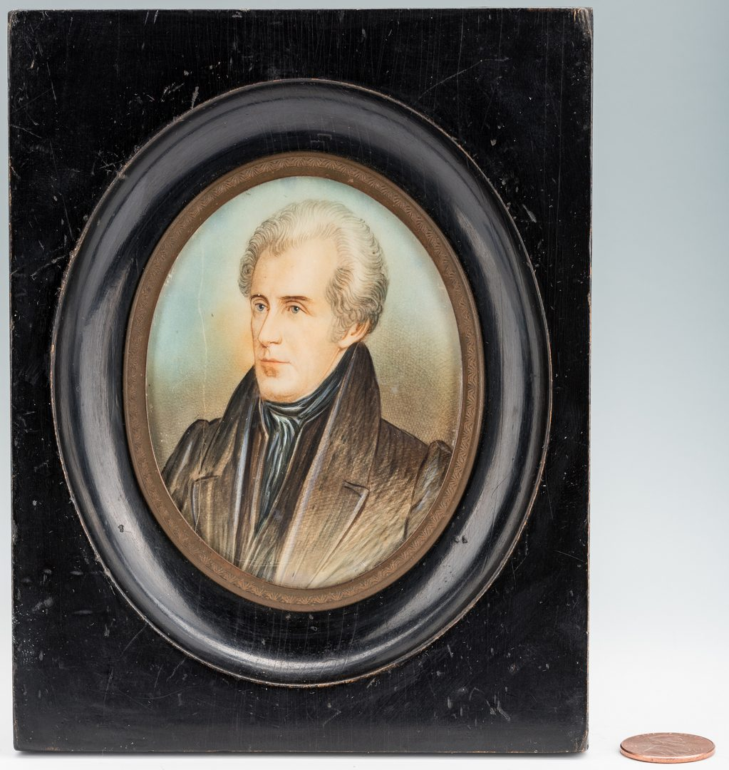 Lot 183: Miniature Portrait of Andrew Jackson