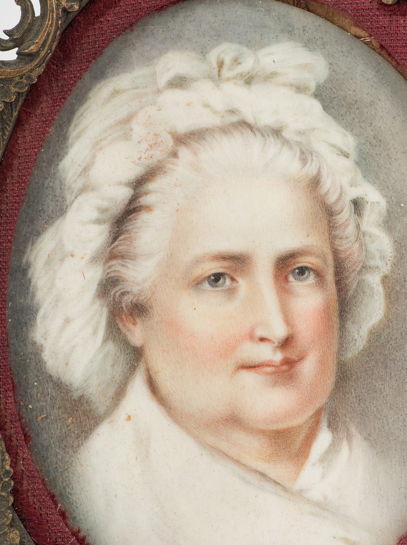 Lot 184: 4 miniature portaits inc. The Washingtons and Marie Antoinette