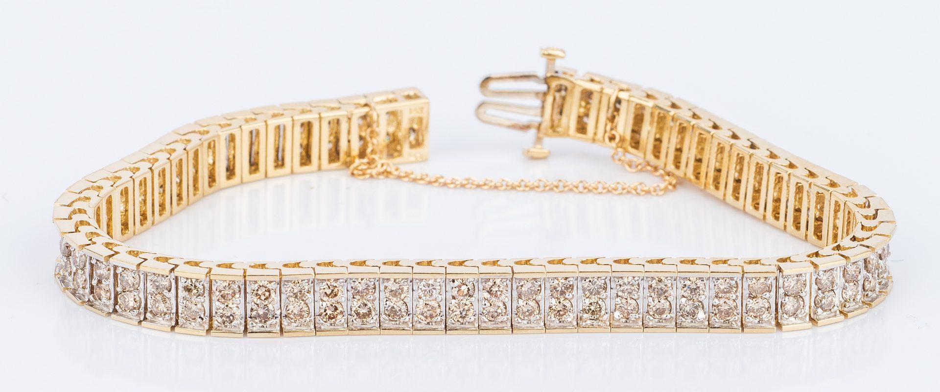 Lot 189: 14K Diamond Line Bracelet