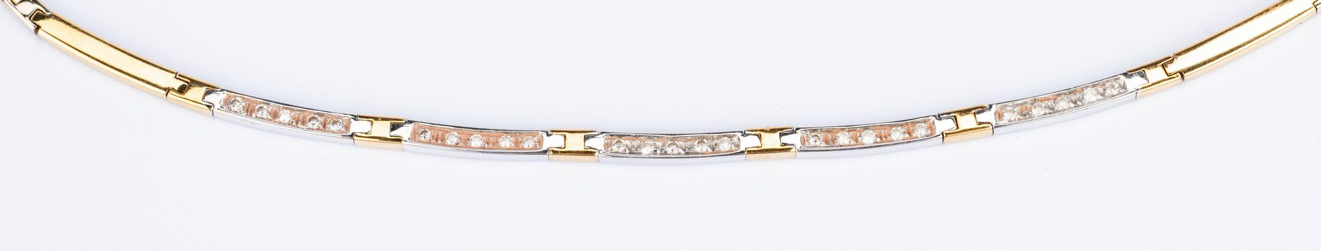 Lot 191: Diamond Bracelet and Choker