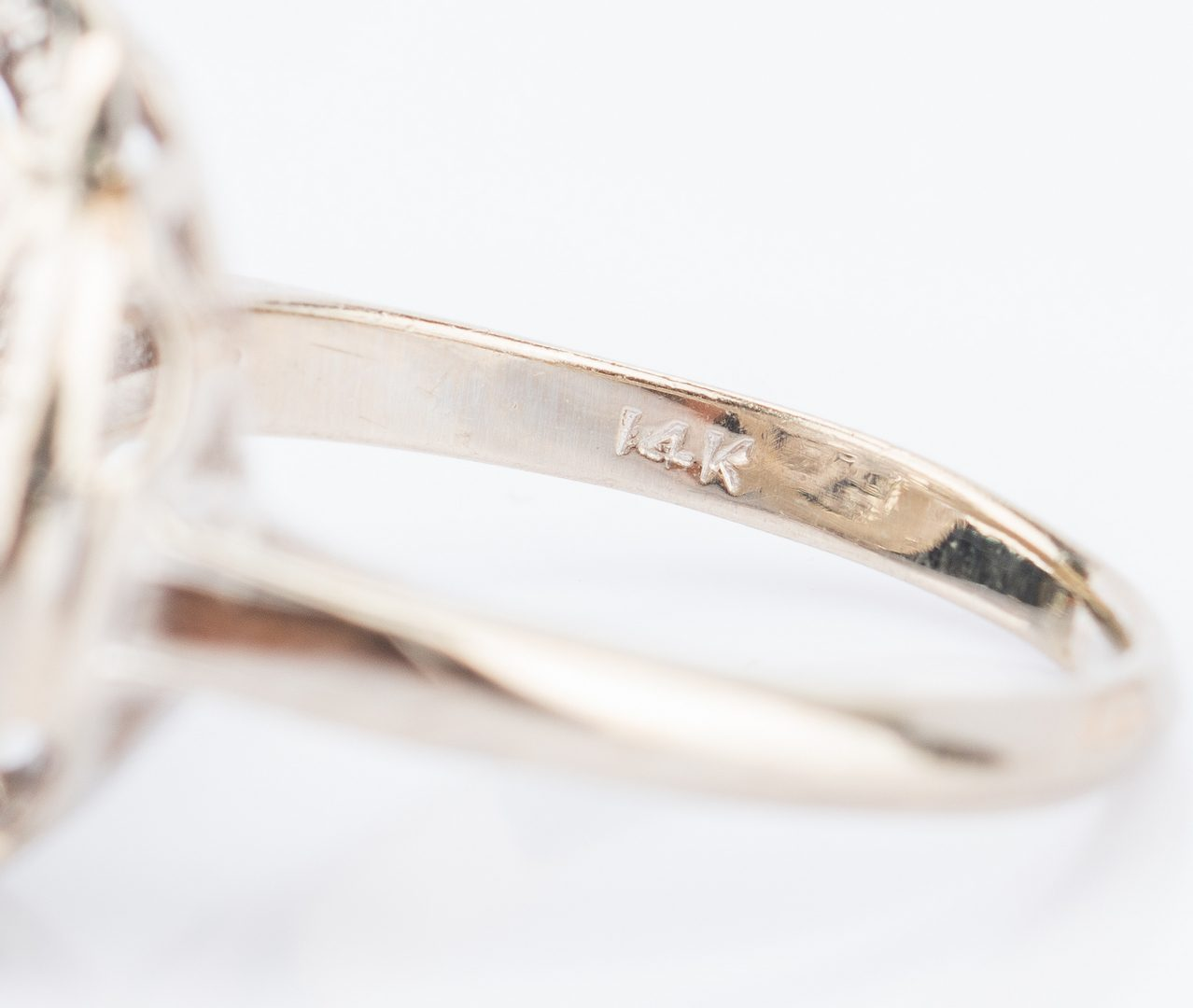 Lot 193: Group 7 14K Diamond Dinner Rings
