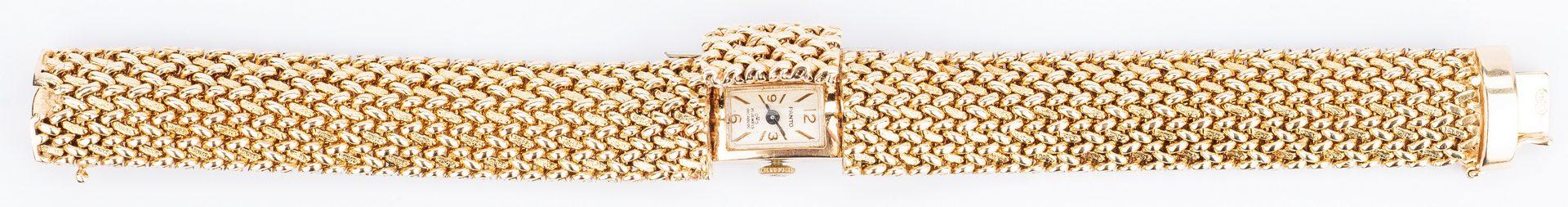 Lot 198: Ladies 14K Swiss Panto Bracelet Watch