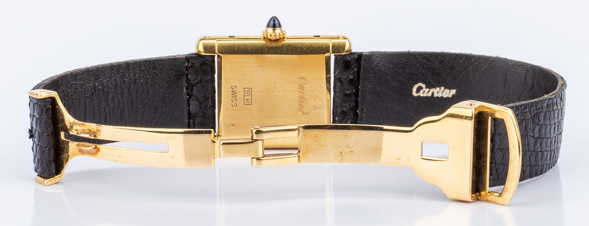 Lot 200: Lady's 18K Cartier Tank Watch