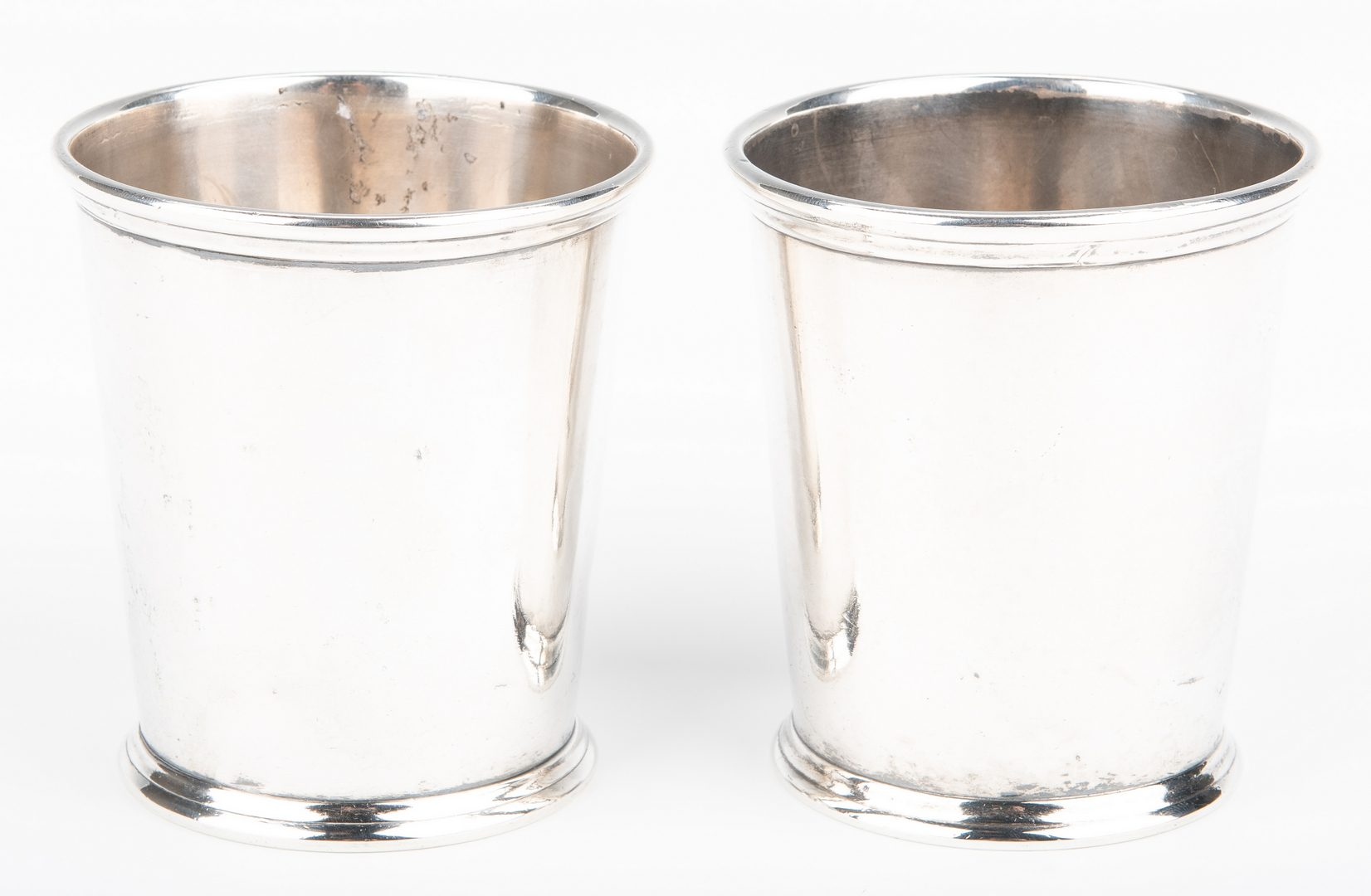 Lot 202: 2 KY Coin Silver Julep Cups