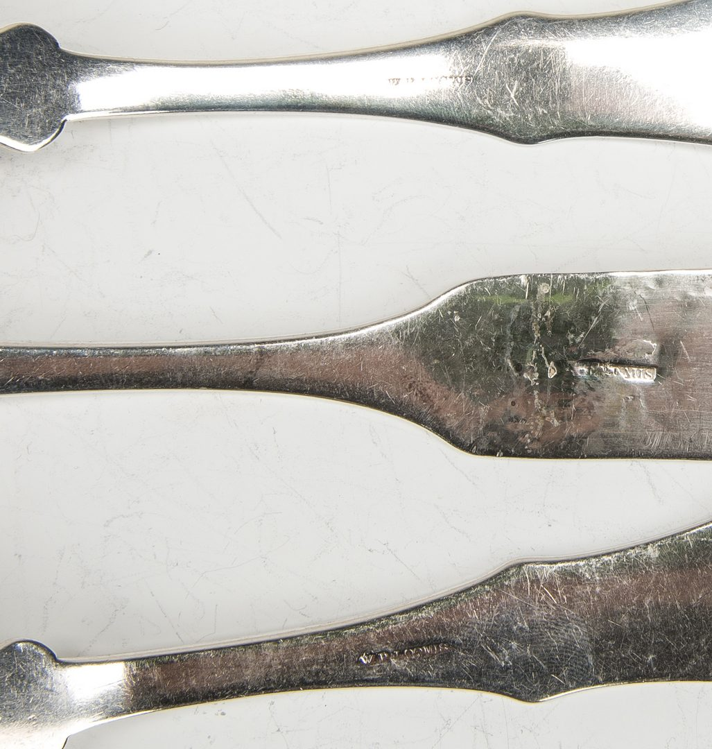 Lot 205: 7 Loomis Ky Coin silver spoons