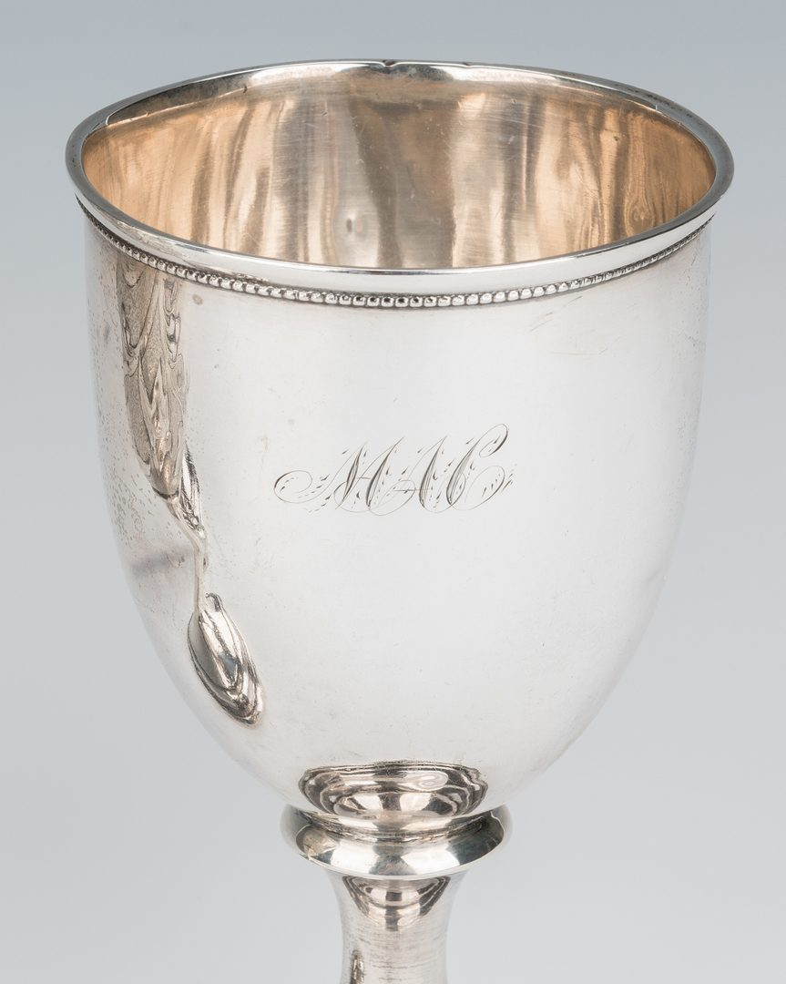 Lot 207: 3 Coin Silver Goblets, Marshall Family History