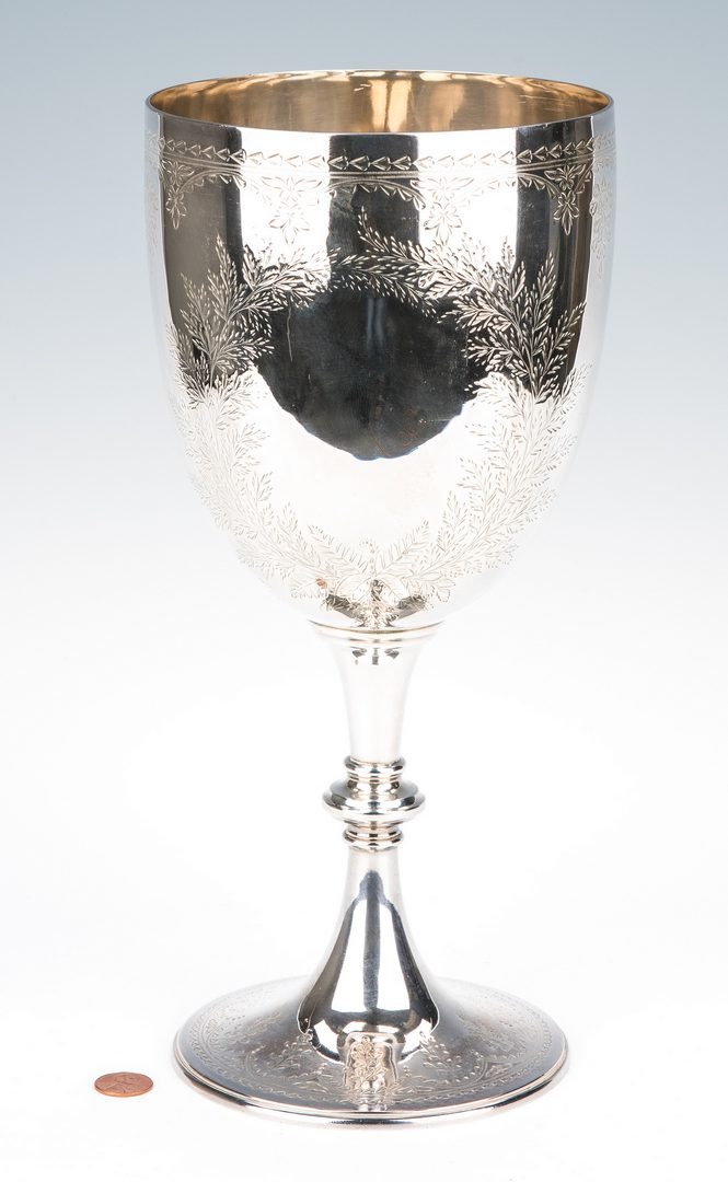 Lot 213: Oversized English Sterling Chalice