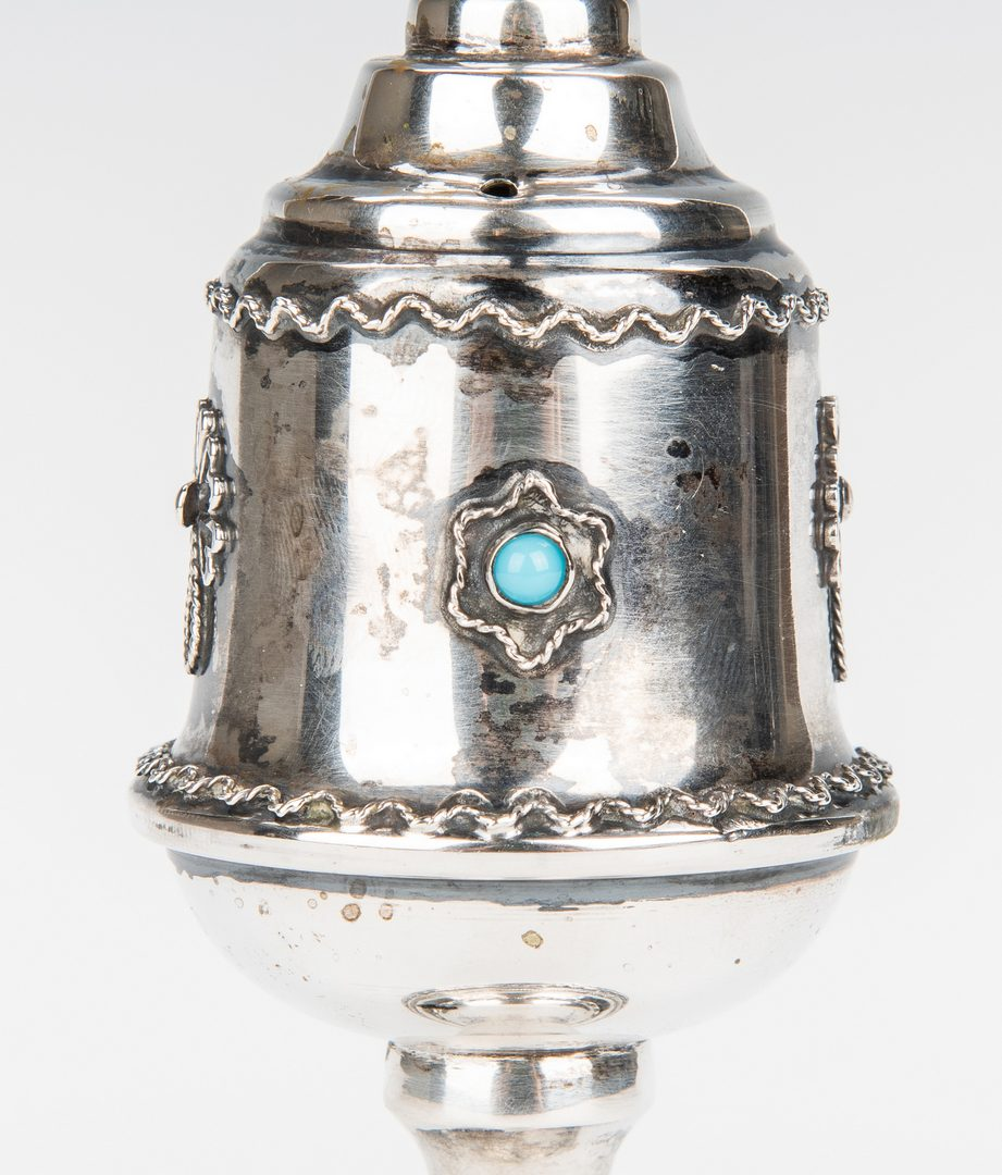 Lot 219: 2 Judaica Ceremonial Silver Objects plus other