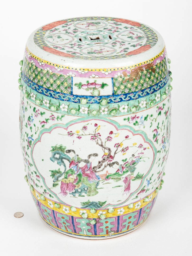Lot 21: Chinese Famille Rose Porcelain Garden Seat