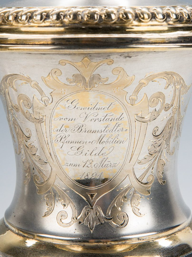 Lot 223: 3 Pc. German Silver, inc. Presentation Cup