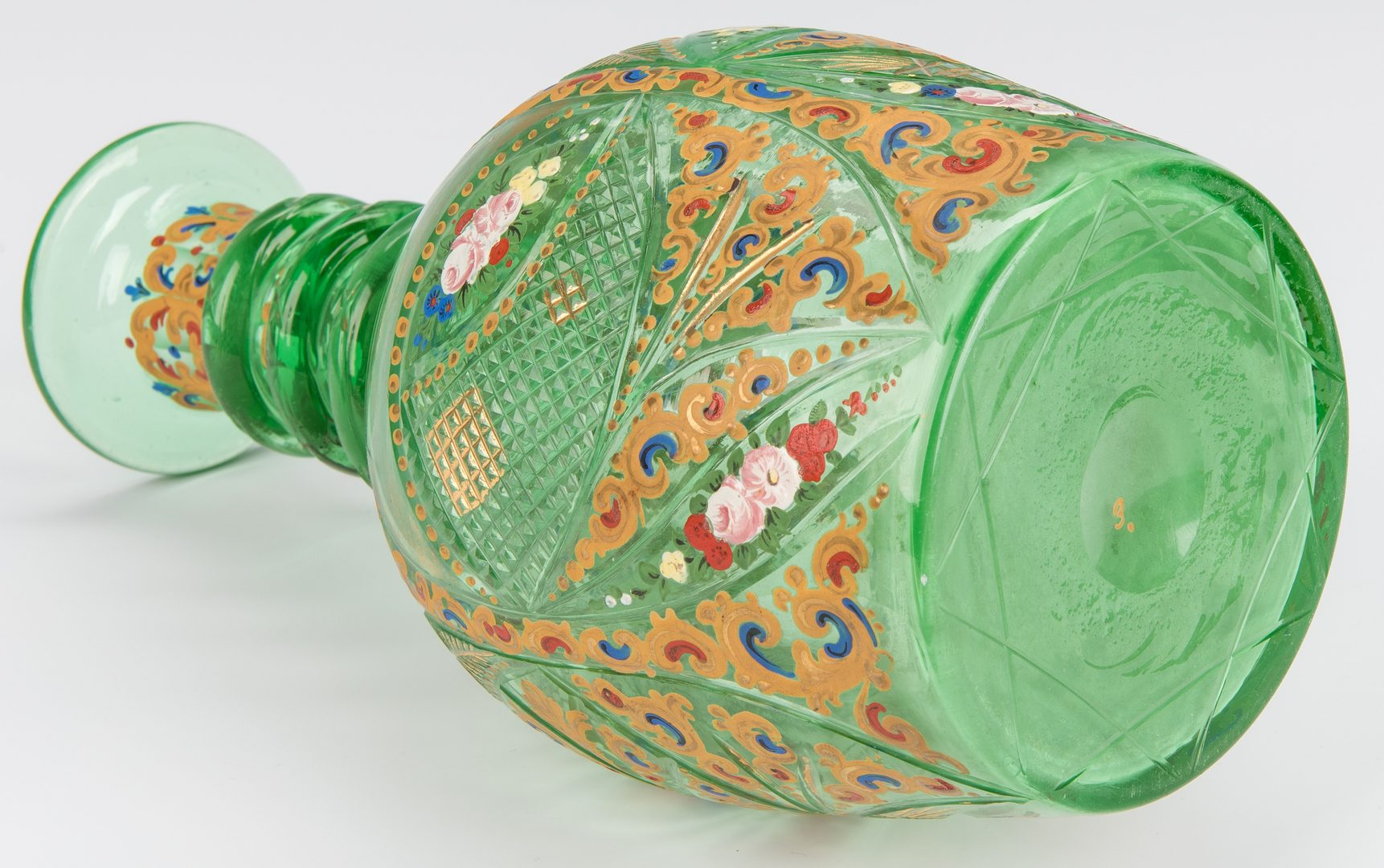 Lot 227: 2 Bohemian Art Glass Decanters