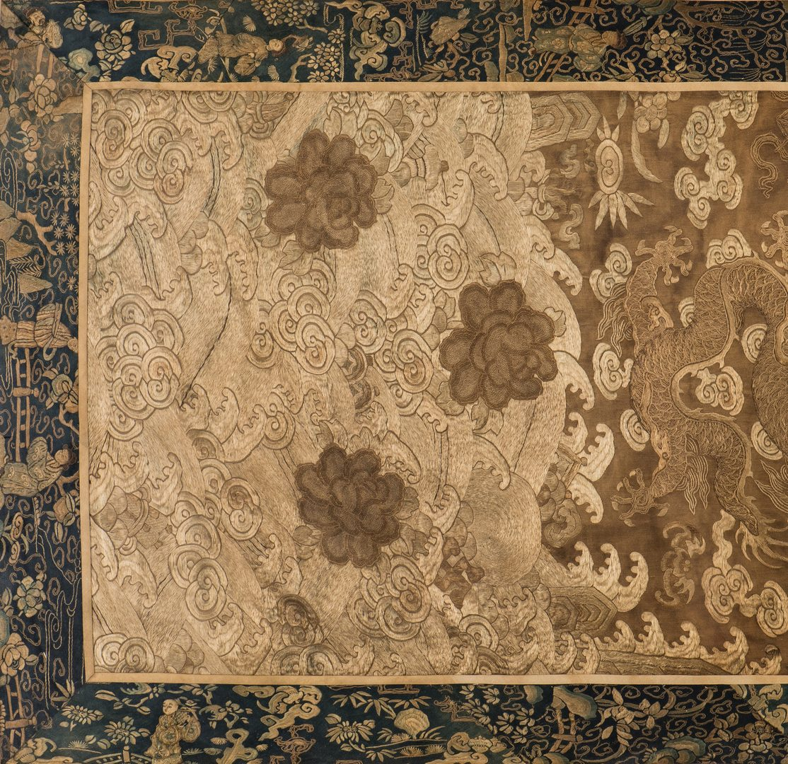Lot 22: Chinese Qing Silk Embroidery