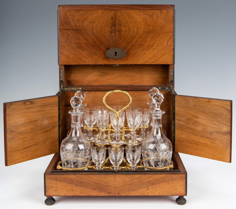Lot 233: European Tantalus or Portable Liqueur Cabinet