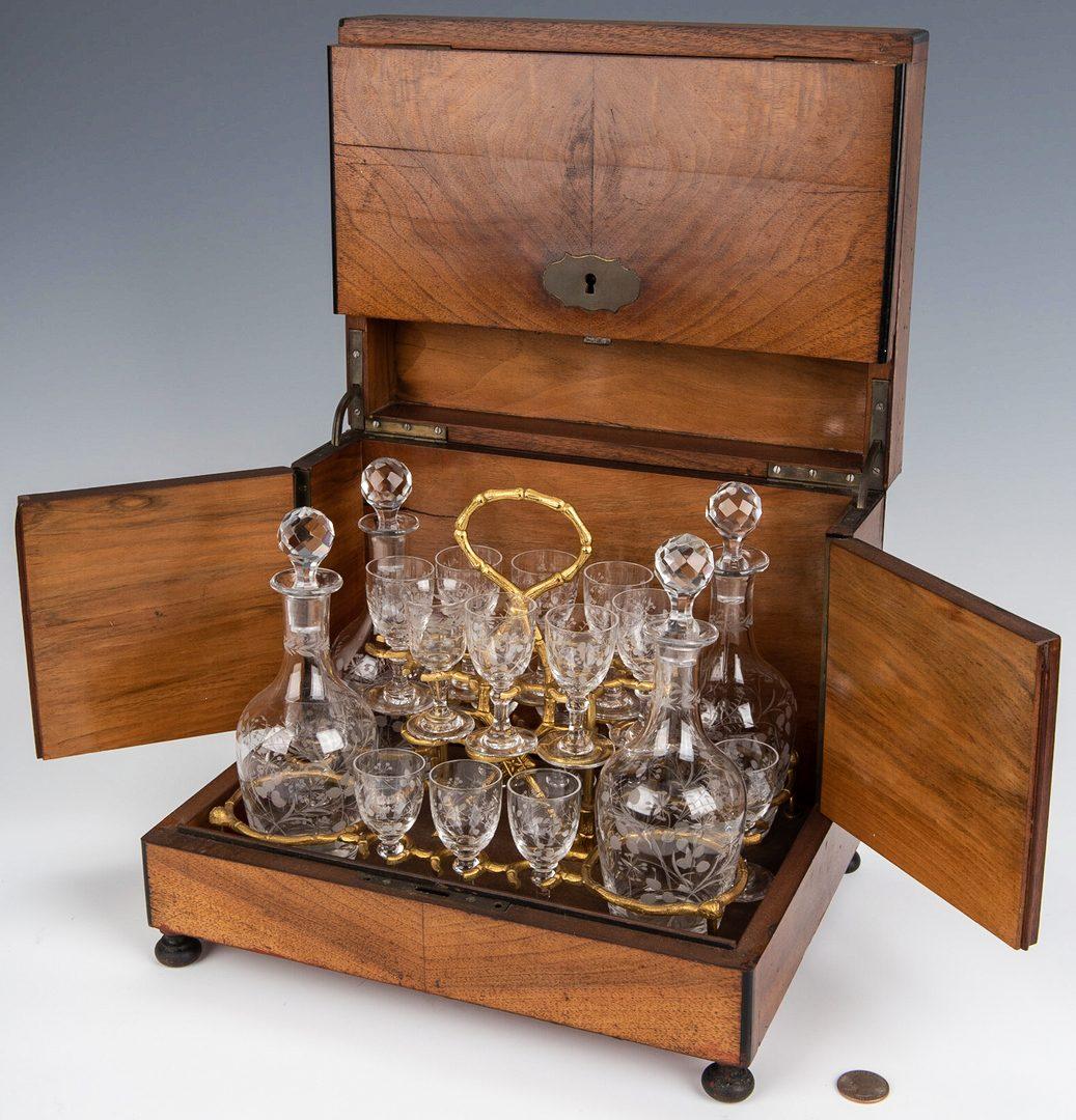 Lot 233: European Tantalus or Portable Liqueur Cabinet