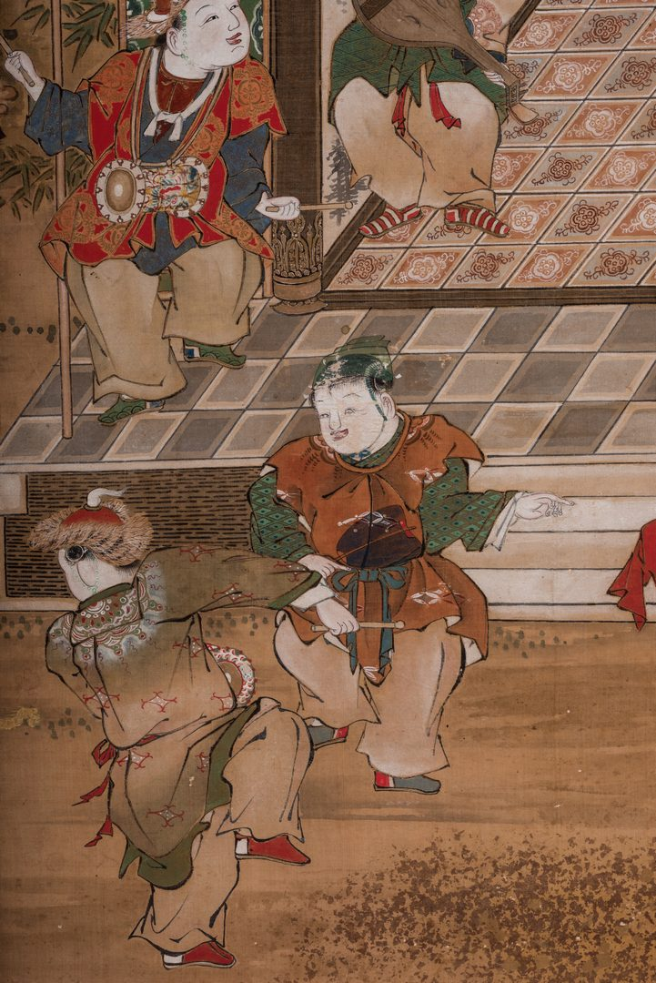 Lot 23: 4 Chinese Watercolor on Silk Panels
