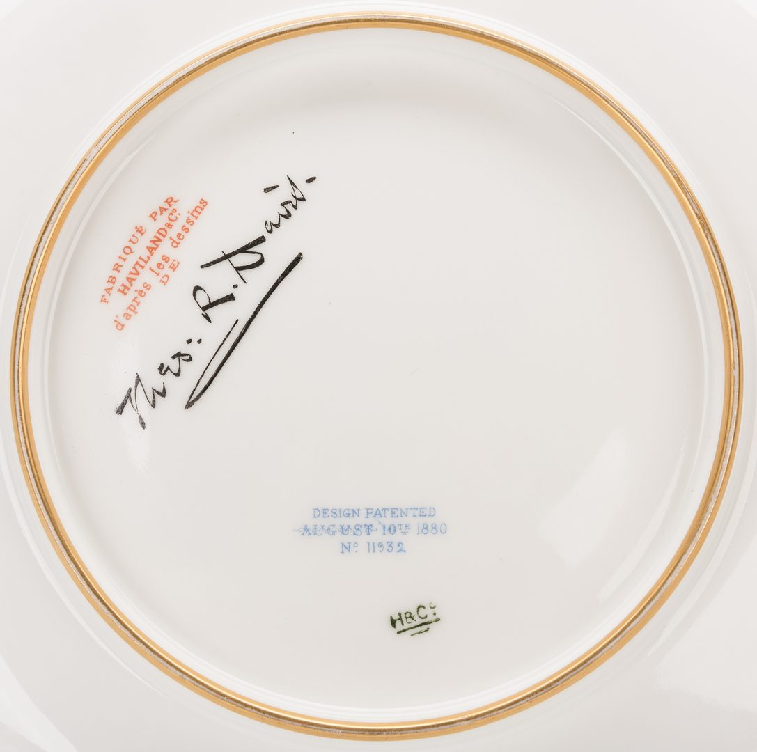 Lot 244: Haviland Rutherford B. Hayes Pattern Game Plate