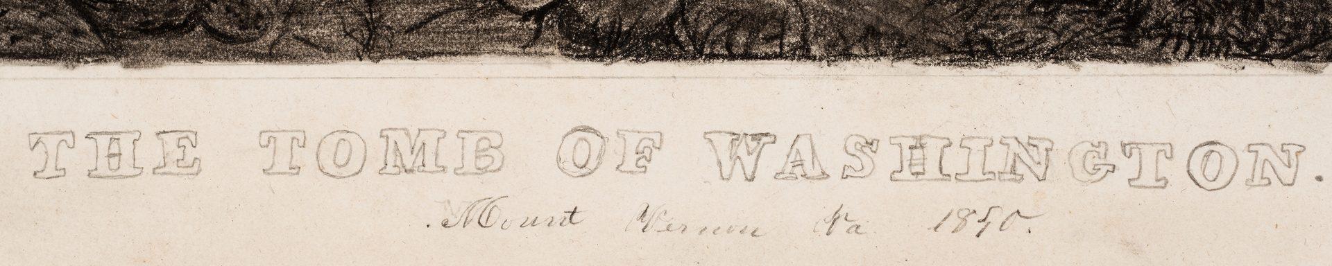 Lot 246: George Washington Tomb Drawing, 1850