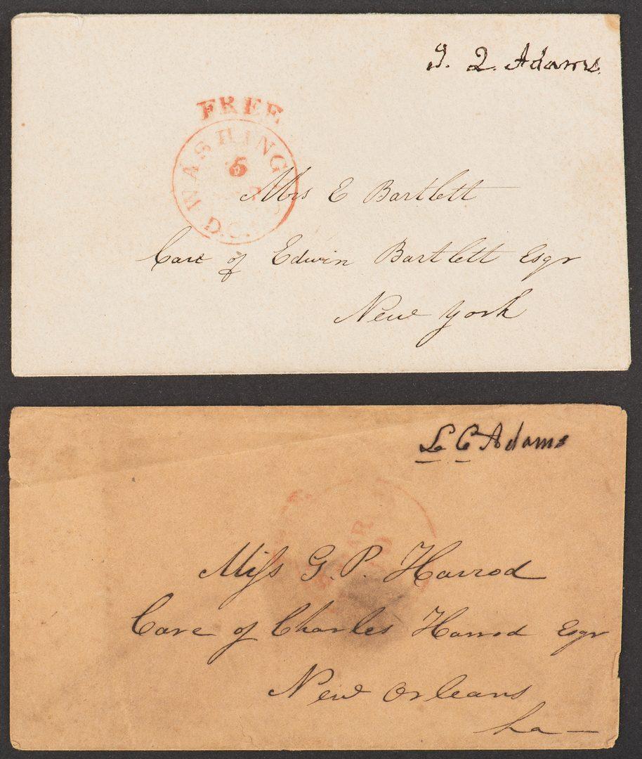 Lot 253: John Q. & Louisa Adams Signatures & Lock of Hair