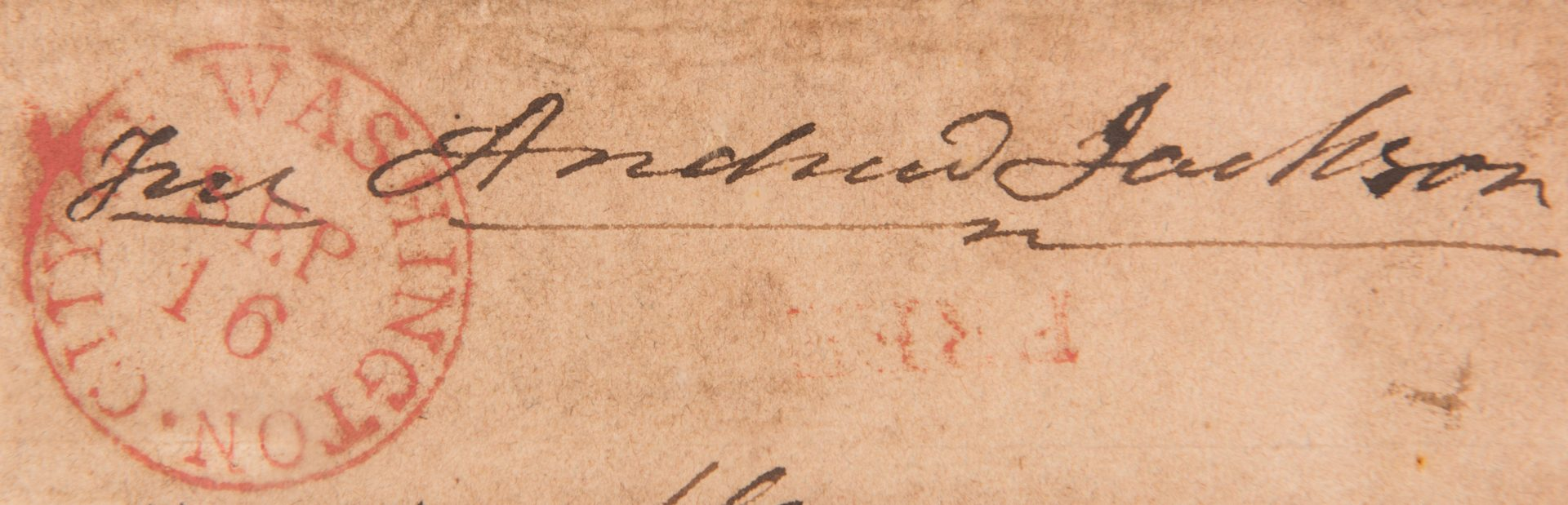 Lot 254: A. Jackson and Van Buren Correspondence to John Overton of TN, inc. Jackson Free Frank