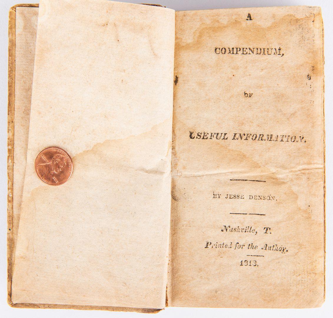 Lot 256: Denson, Compendium Nashville Imprint, 1813