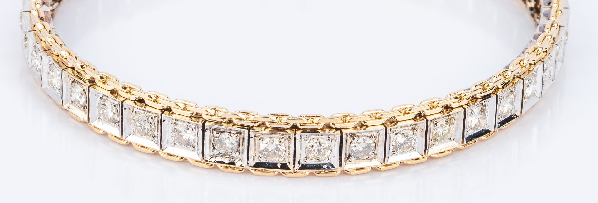 Lot 25: 14K Diamond Bracelet