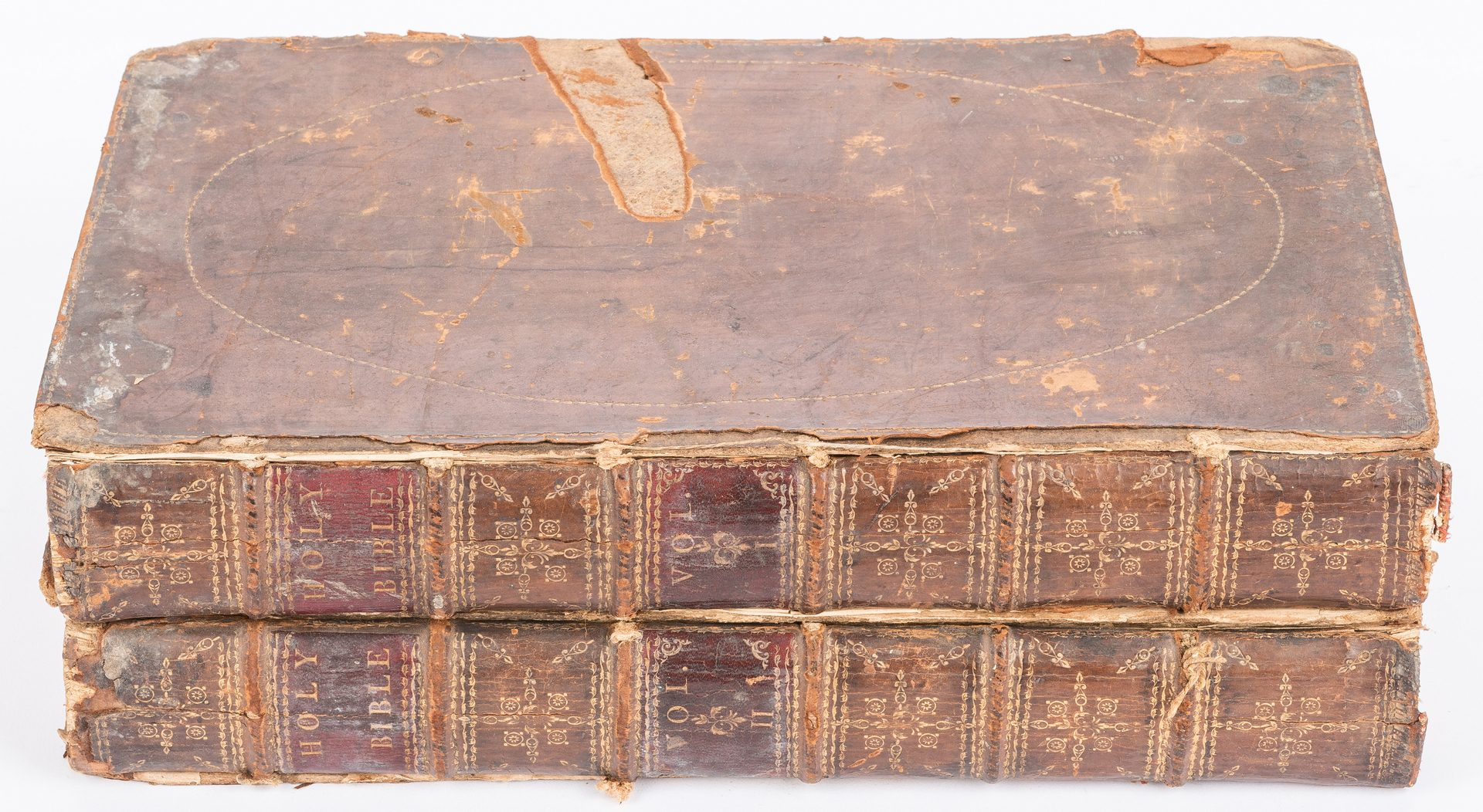 Lot 263: Dearborn Family, Isaiah Thomas Bible, Vol. II & II, 1791