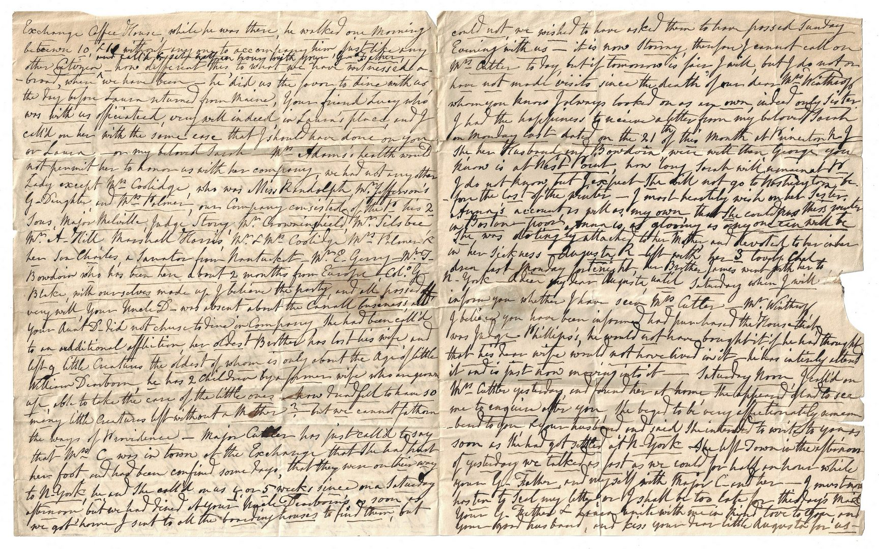 Lot 264: Dearborn Family Letter Archive inc. Gen. Henry Dearborn signature
