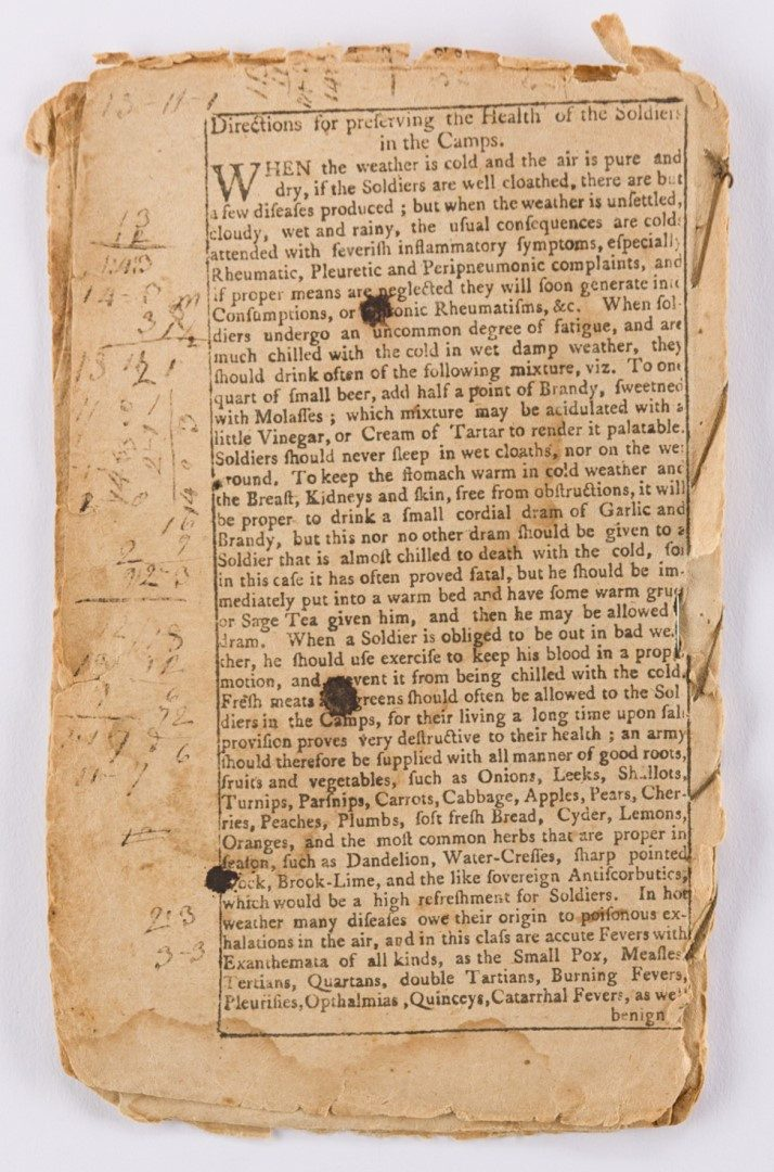 Lot 271: Samuel Stearns Almanack, 1776
