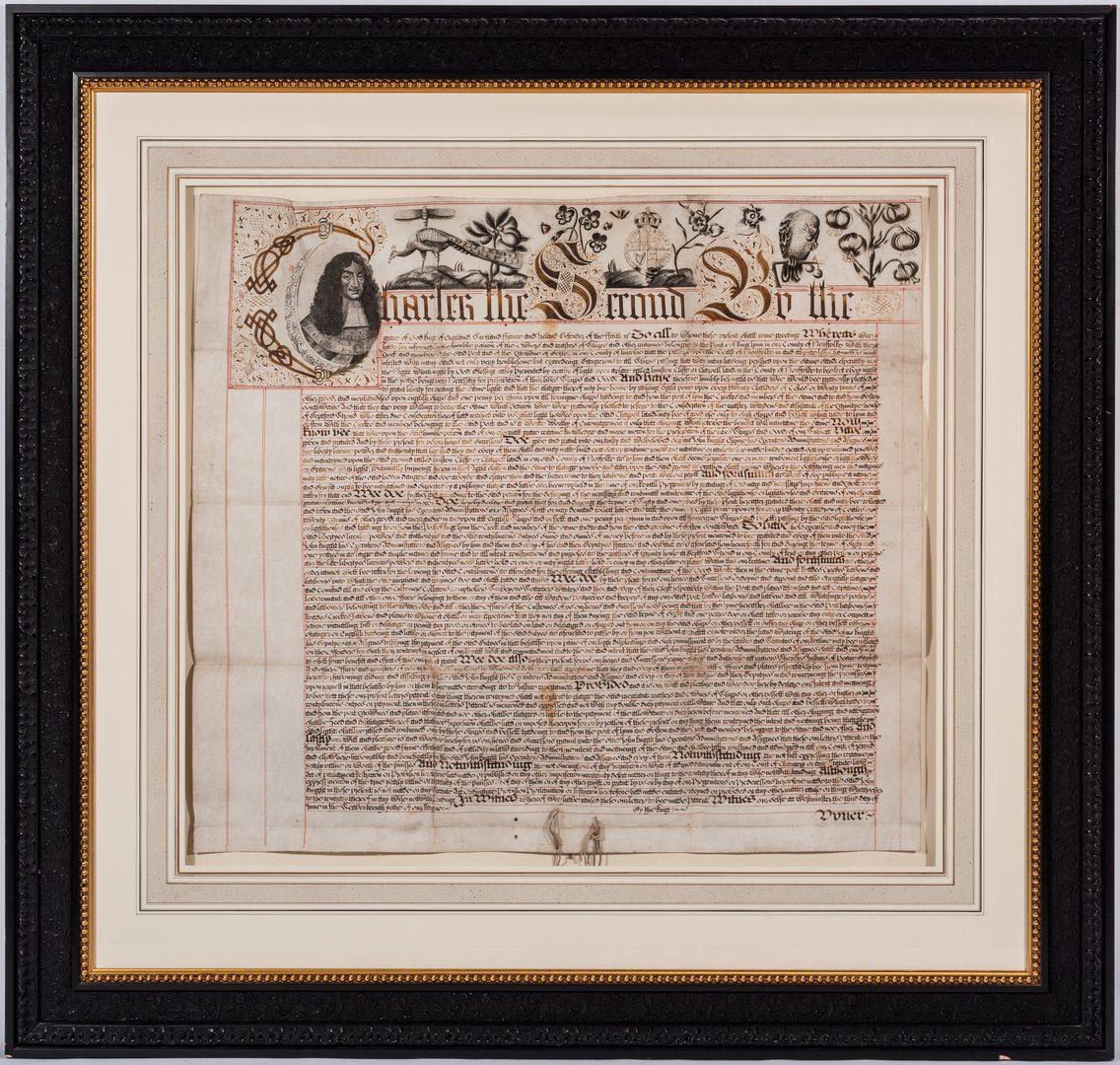 Lot 274: King Charles II Manuscript