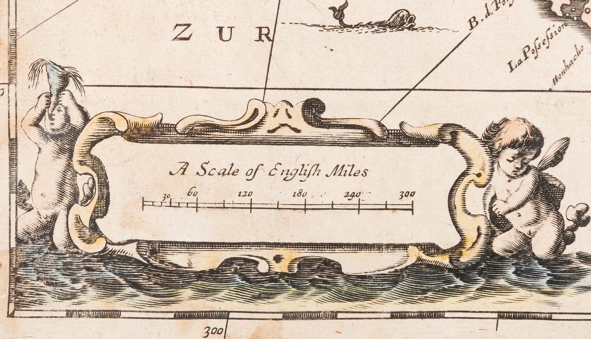 Lot 276: Morden 1673 Virginia Map of English Plantations