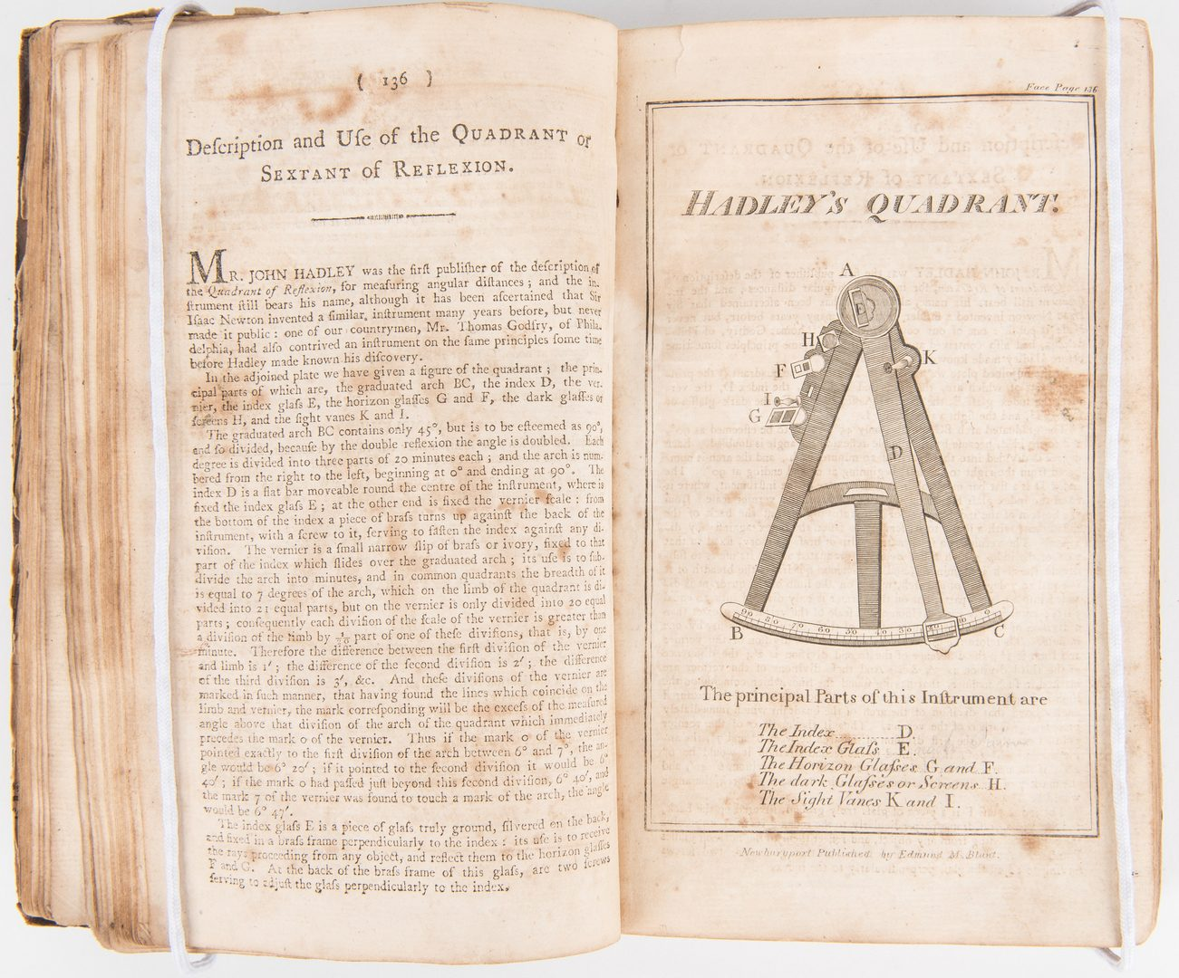 Lot 277: Marshall Family, Bowditch, New American Practical Navigator, 1802