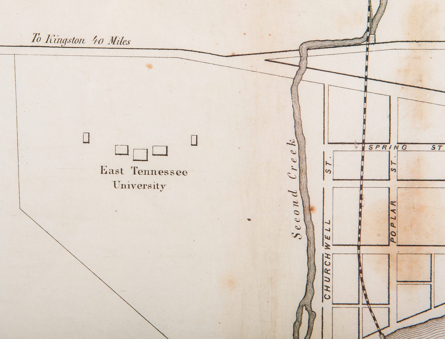 Lot 279: Rare Lea 1855 Plan of Knoxville Map