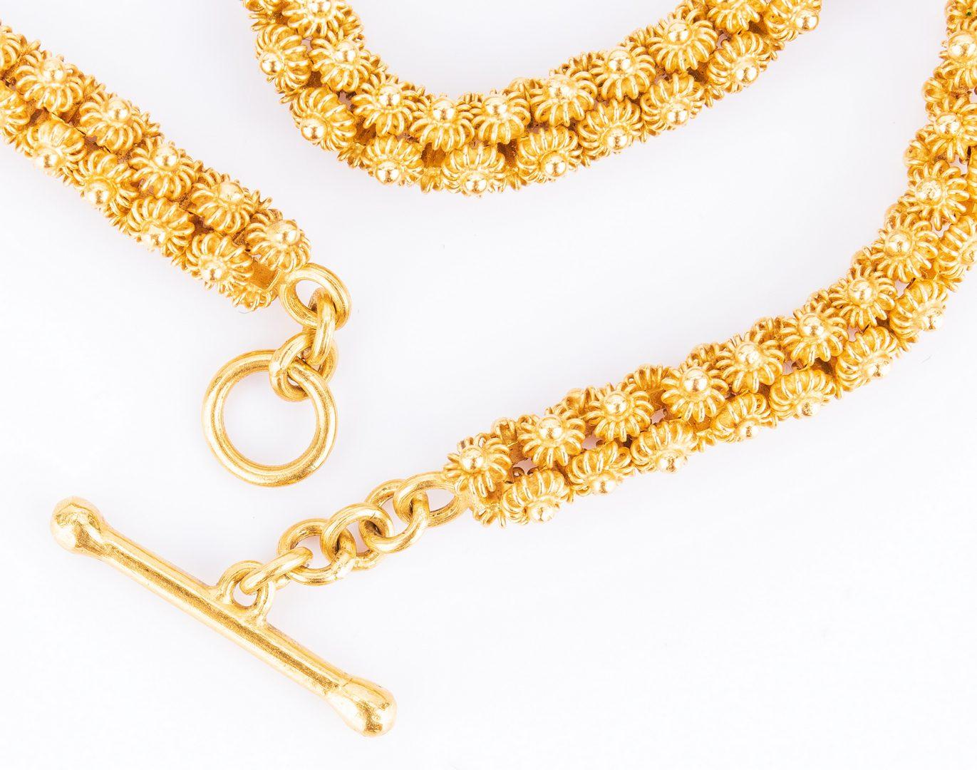 """Lot 27: 22K 36"""" L chain Necklace, 90 grams"""