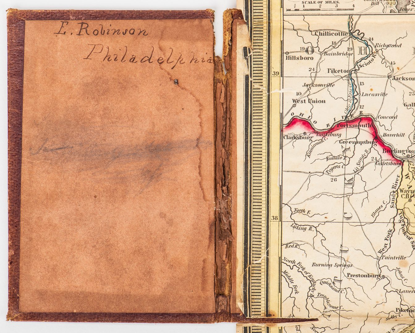 Lot 281: Mitchell 1851 Pocket Map of VA